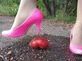 Amateurvideo pressure on tomato feet in nylon von Arabika